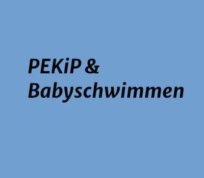 PEKiP & Babyschwimmen